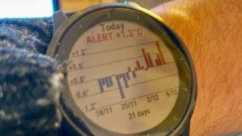 Imagem smartwatch Garmin com sensor de temperatura que ajuda a detetar a COVID-19