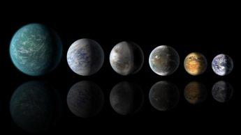 Imagem planetas como a Terra no Universo