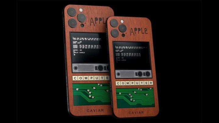 Imagem iPhone 12 Pro e Pro Max com chassi Caviar Apple I