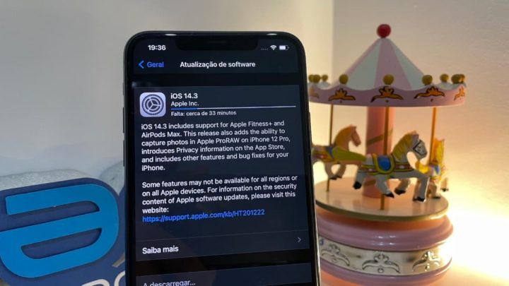 Imagem iOS 14.3 Release Candidate no iPhone 11 Pro Max