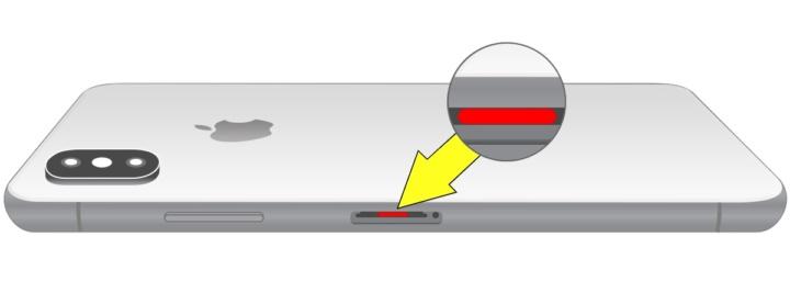 Imagem sensor de água dentro do iPhone