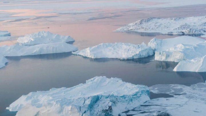 El derretimiento de los glaciares
