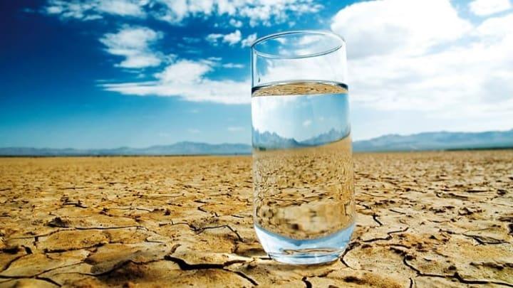 Água potável em zonas secas.