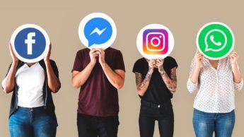 Imagem do monopólio do Facebook nas redes sociais com Instagram, e WhatsApp na mira das autoridades