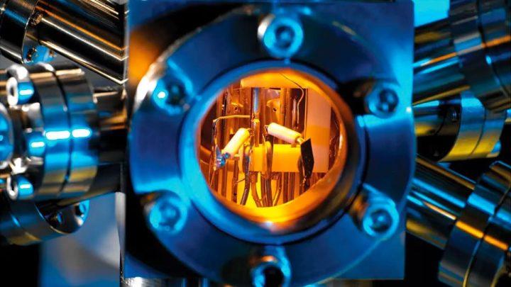 Ilustração do novo relógio atómico do MIT