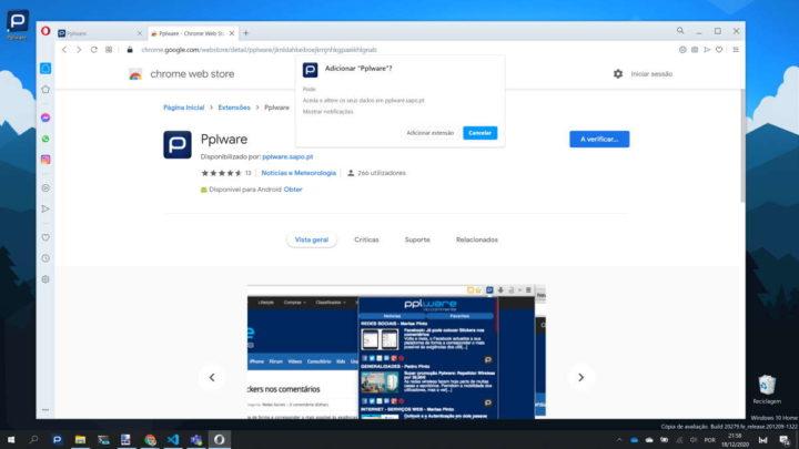 Opera extensões browser Chrome instalar