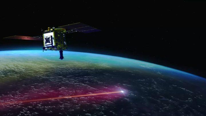 Ilustração da sonda japonesa que foi ao asteroide Ryugu