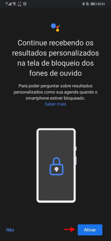 Assistente Google Android auscultadores cabo