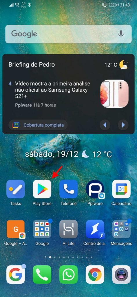 Android apps atualizar ecrã toque