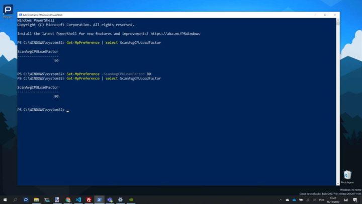 Windows 10 CPU Windows Defender controlar segurança