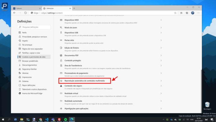 Edge Microsoft browser vídeos utilizadores