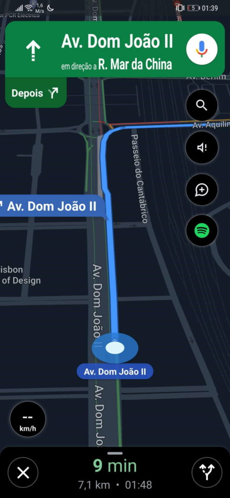 Google Maps histórico rotas separador