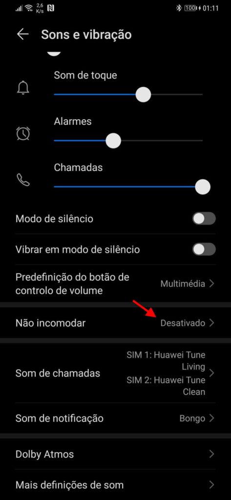 Android alertas chamadas notificações utilizadores