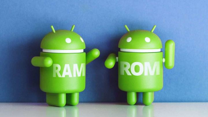 Android RAM armazenamento dados informação