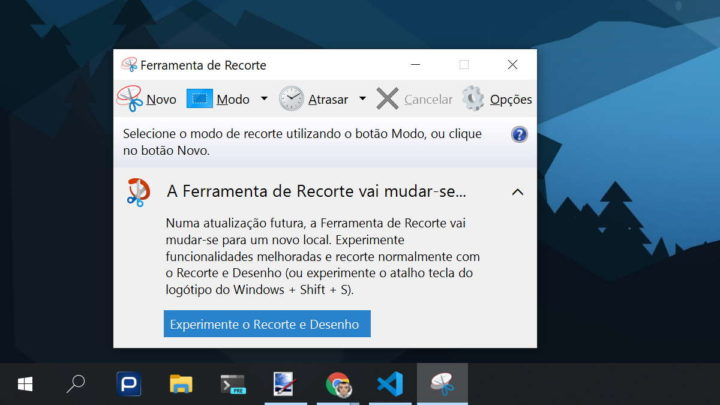 Windows 10 Microsoft ferramentas opcional recorte