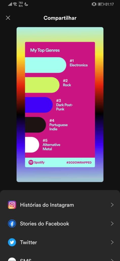 Spotify 2020 playlist música ano