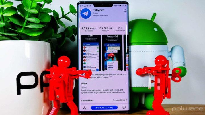 Telegram mensagens contactos ler funcionalidades
