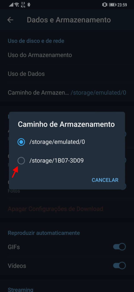 Usar cartãoSD para armazenar Android