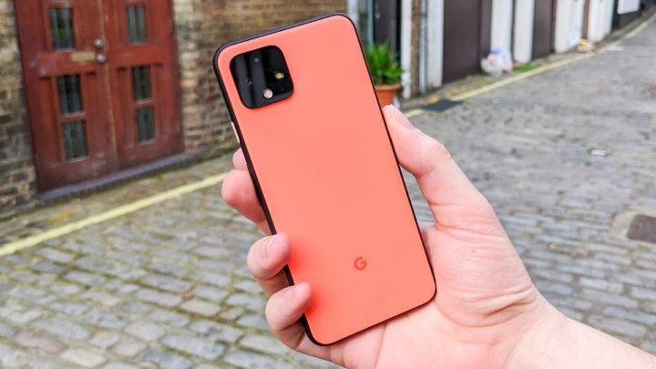 Imagem Google Pixel com screenshots tipo iPhone