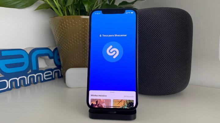 Imagem app Shazam no iOS