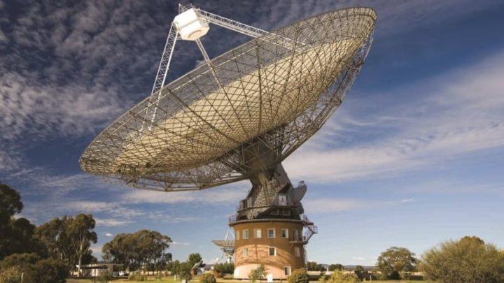 Telescópio Parkes, na Austrália.