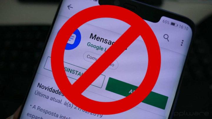 Android SMS Google mensagens atualização