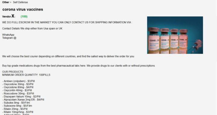 ALERTA: Há vacinas falsificadas para a COVID-19 à venda na Internet