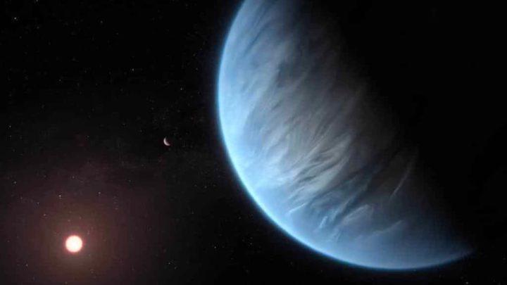 Imagem de um outro planeta como a Terra na galáxia