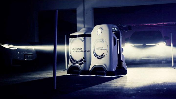 Carregadores de carros elétricos para robôs Volkswagen