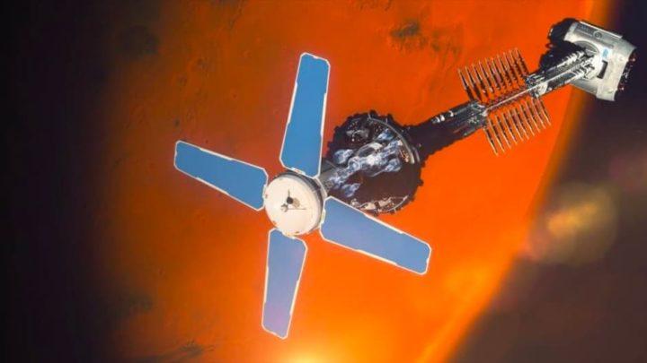 Ilustração de motor nuclear da Rolls-Royce para ir a Marte