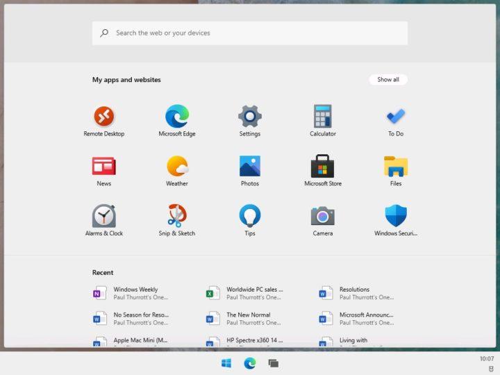 Windows 10X Microsoft Windows 10 Sun Valley sistema