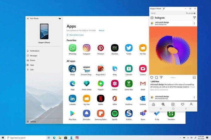 Aplicaciones para teléfonos inteligentes Android Windows 10 Microsoft