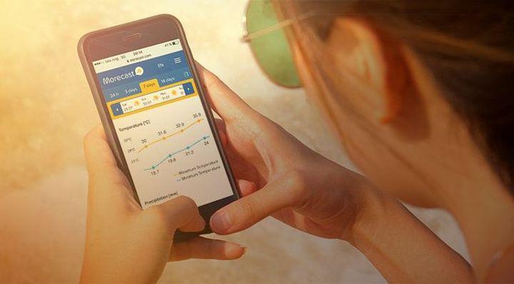 5 novas apps para instalar no seu smartphone Android Weather Forecast, Radar & Widget - Morecast