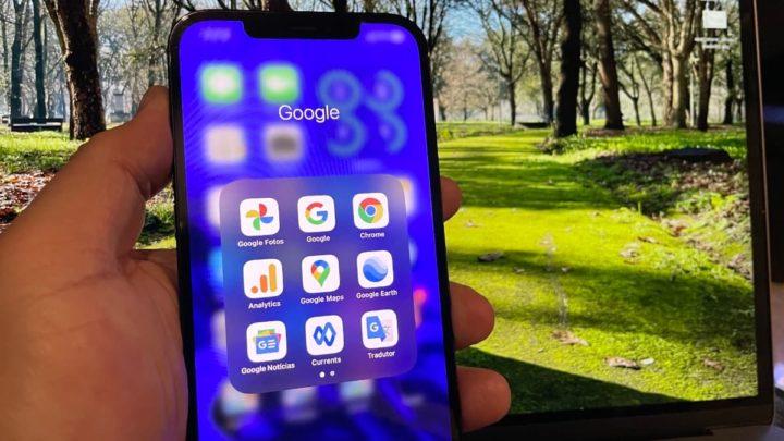 Imagem das apps Google na App Store