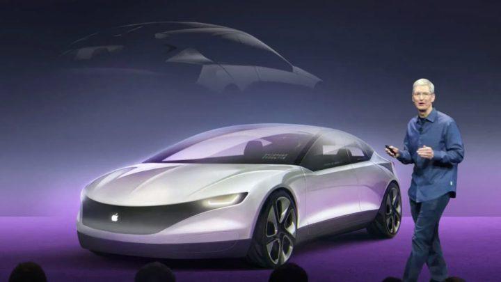 Ilustração carro elétrico autónomo Apple e Hyundai, Apple Car