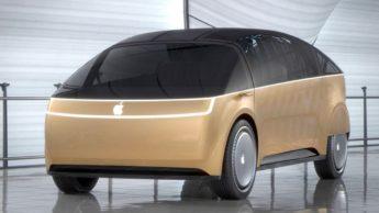 Imagem carro elétrico Apple com ilustração Canoo