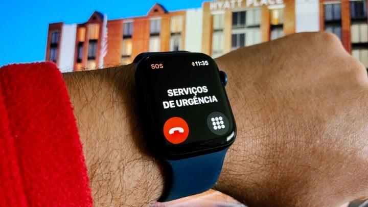 Imagem Apple Watch serviço emergência