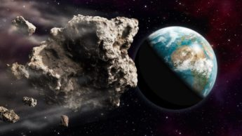 Ilustração do asteroide que passará pela Terra