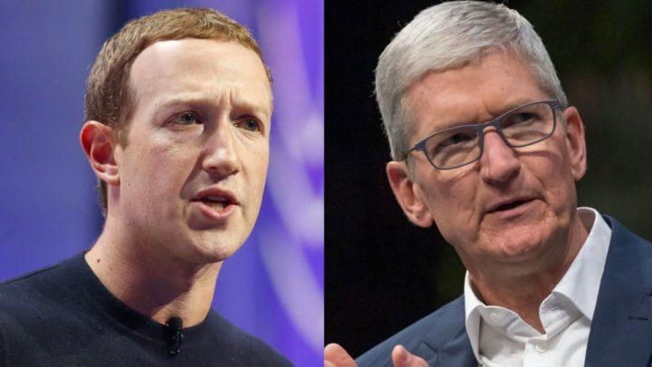 Imagem CEO do Facebook e CEO da Apple