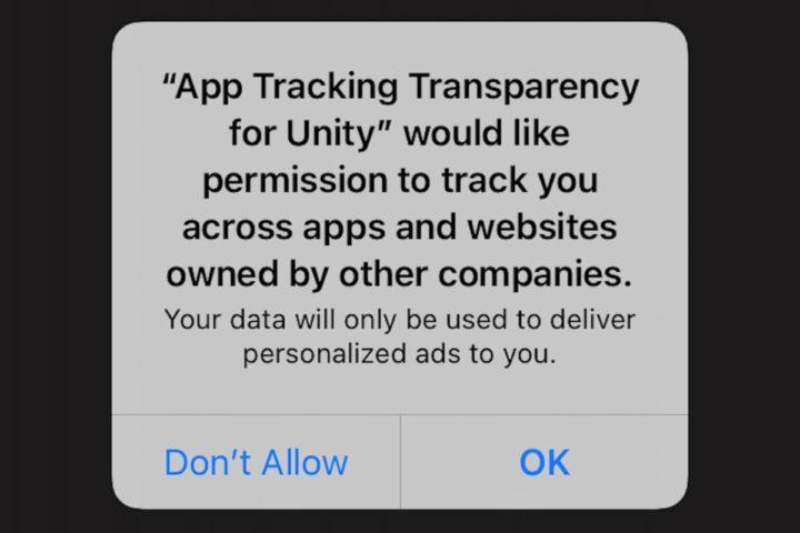 Imagem do novo sistema da Apple de privacidade