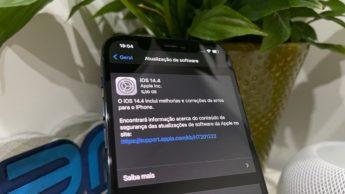 Imagem iPhone 12 Pro com iOS 14.4 RC
