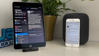 Imagem iPad mini 4 a atualizar versão iOS 14.4 de segurança
