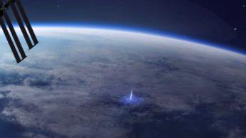 Imagem Jatos Azuais vistos da Estação Espacial Internacional