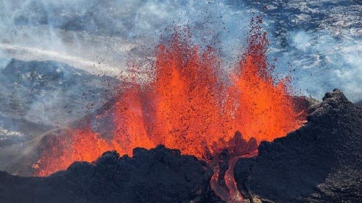 Vulcão Hekla na Islândia