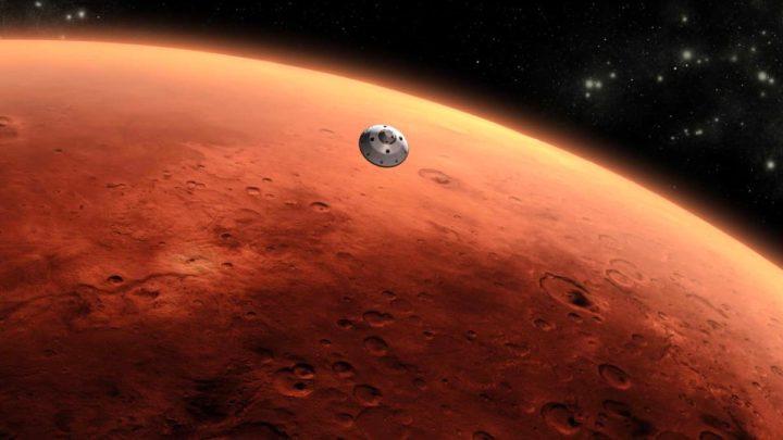 Image of the spacecraft in Mars orbit