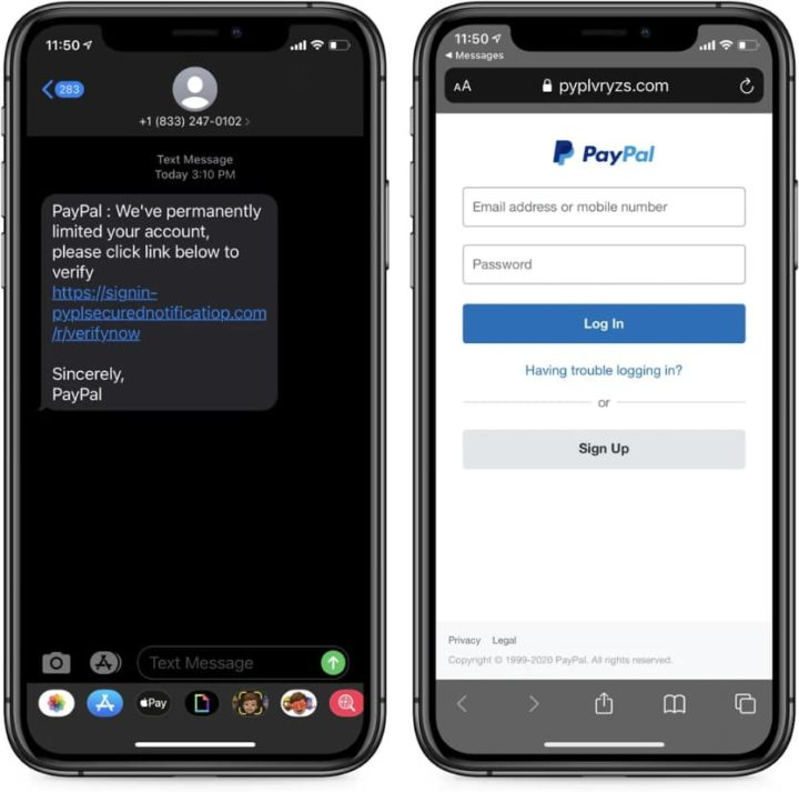 Atenão às SMS: Querem roubar-lhe dinheiro do PayPal