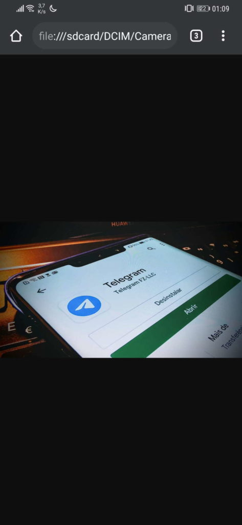 Android gestor ficheiros Chrome smartphone