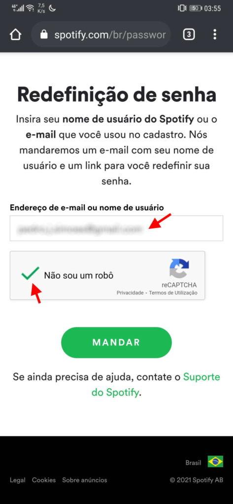 Spotify conta segurança password medidas