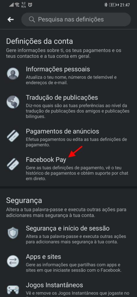 Facebook Pay pagamentos rede social PayPal