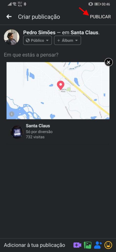 Facebook contactos localização enganar locais
